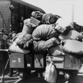 Many ethnic German refugees in the east were herded onto freight trains bound.