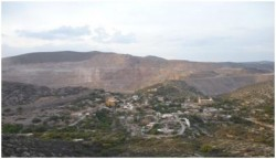 The New Gold-San Xavier mine, Cerro de San Pedro, San Luis Potosí, 17 March 2012
