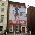 "A ""vote no"" poster in Dublin, ahead of Ireland's referendum in the fiscal pact."