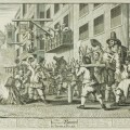 William Hogarth Illustrations for Samuel Butler's 'Hudibras' Plate 11 Burning Ye Rumps at Temple Bar