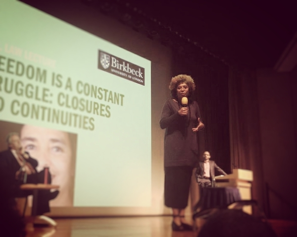 Angela Davis delivers the Birkbeck Annual Law Lecture