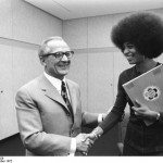 Erich Honecker and Angela Davis