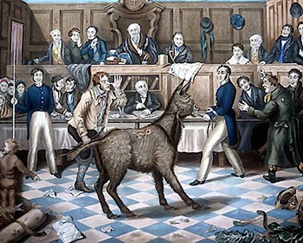 The Trial of Bill Burn by artist P. Mathews