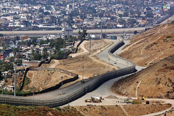 A view of the US-Mexico border in San Ysidro, California 2008.