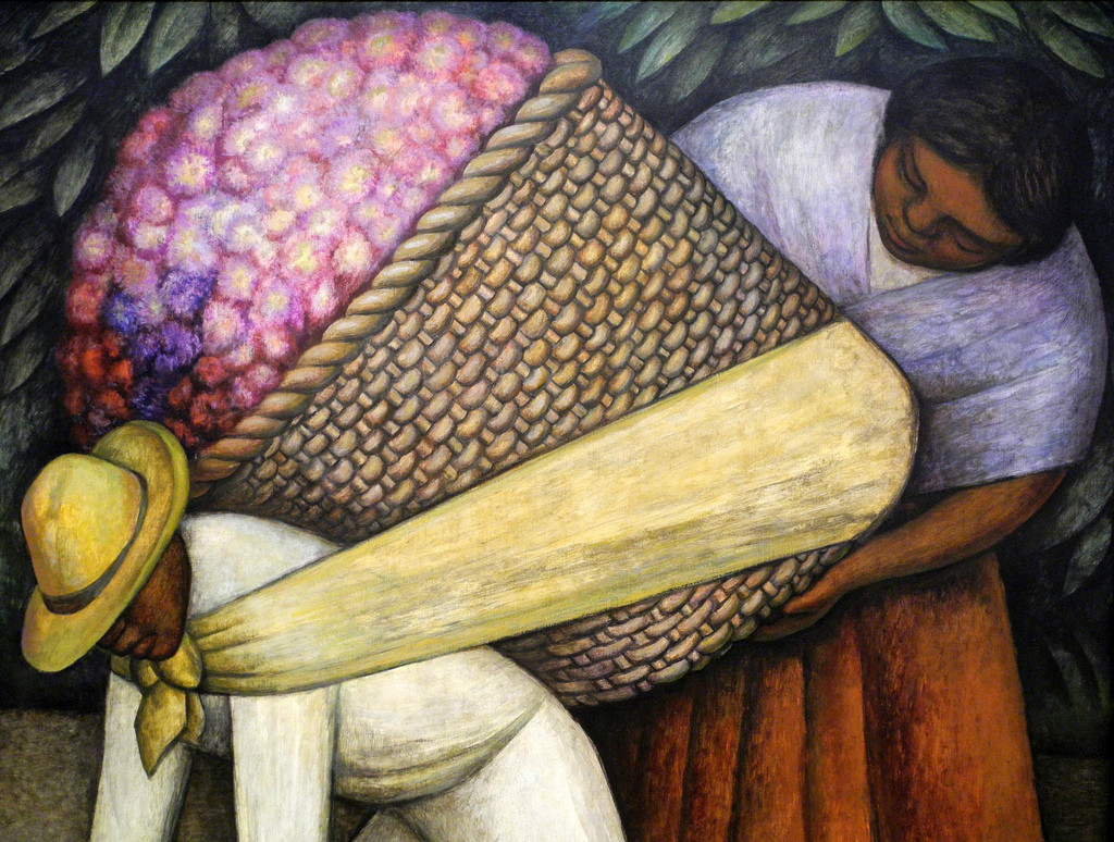 The Flower Carrier by Diego Rivera (1935)