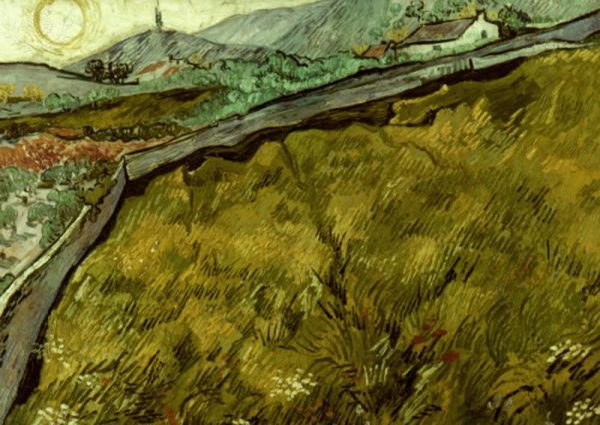 VAN GOGH: FIELD, 1890. The Enclosed Field. Canvas, May 1890, by Vincent Van Gogh.