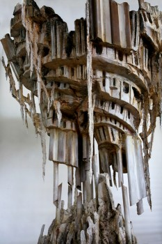 A detail of Diana Al-Hadid's'Self-Melt' (2008) - Perry Rubenstein Gallery.