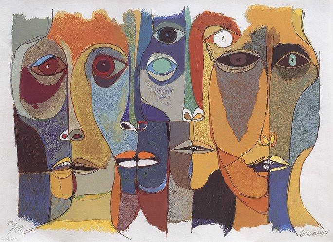 Ramblas by Oswaldo Guayasamin