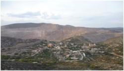 The New Gold-San Xavier mine, Cerro de San Pedro, San Luis Potosí, 17 March 2012