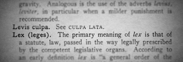 Lex Dictionary Entry