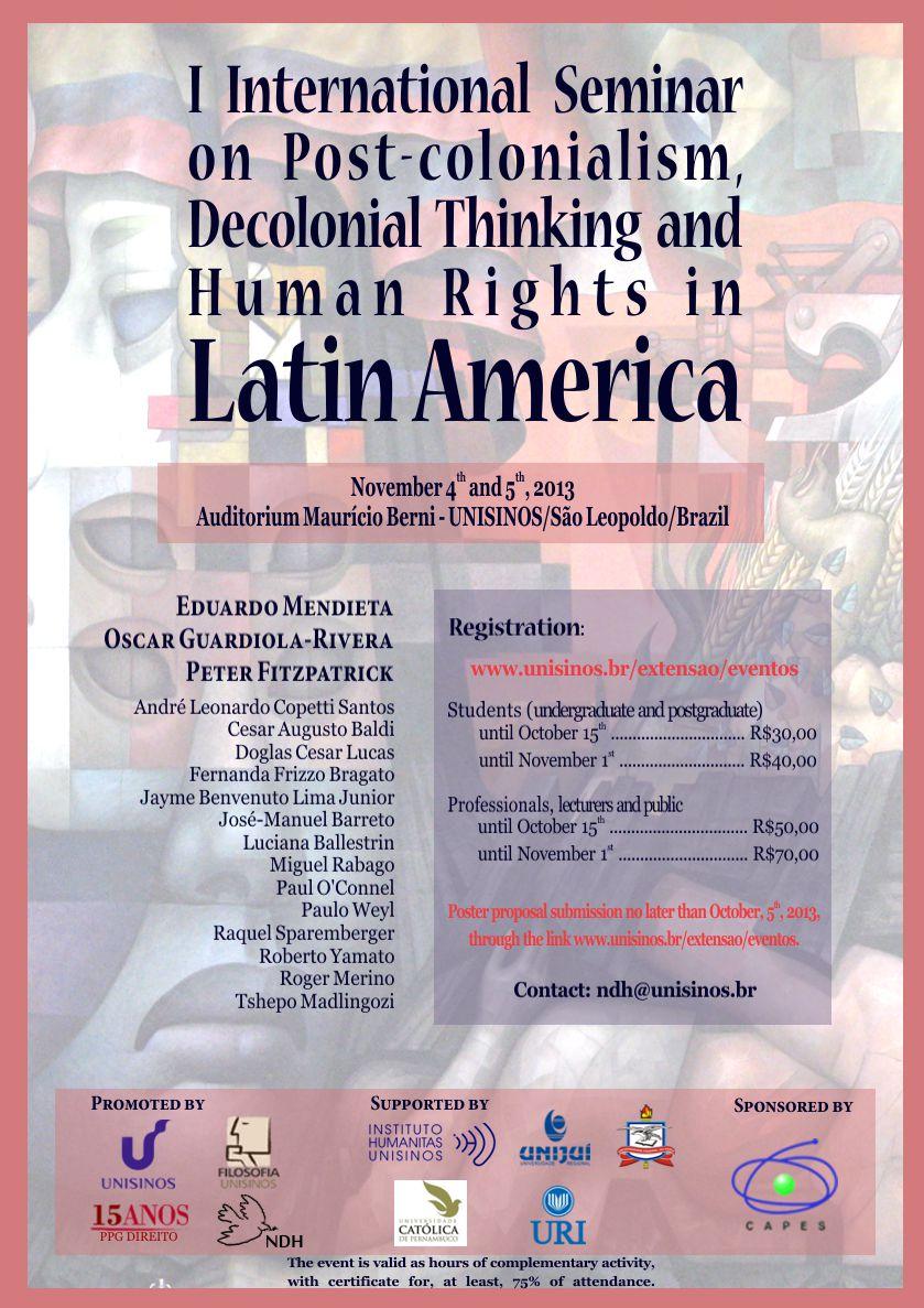 Cartaz evento descolonial English