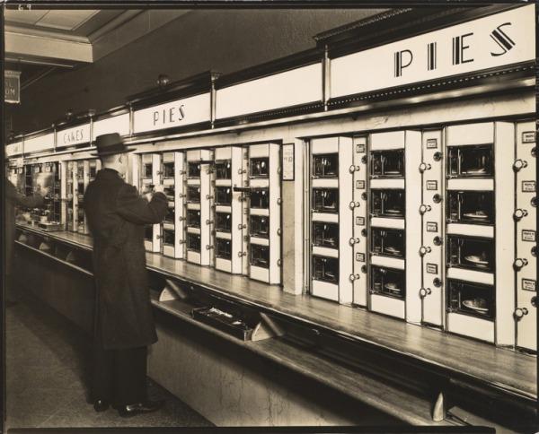 Automat, 977 Eighth Avenue, Manhattan, 1936. Gelatin silver print.