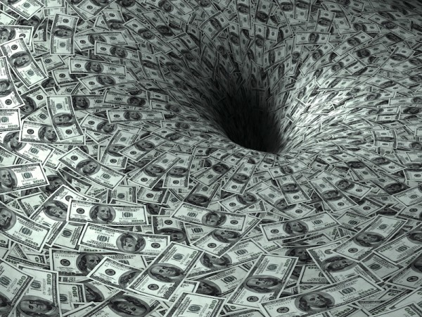 dollar's flow in black hole