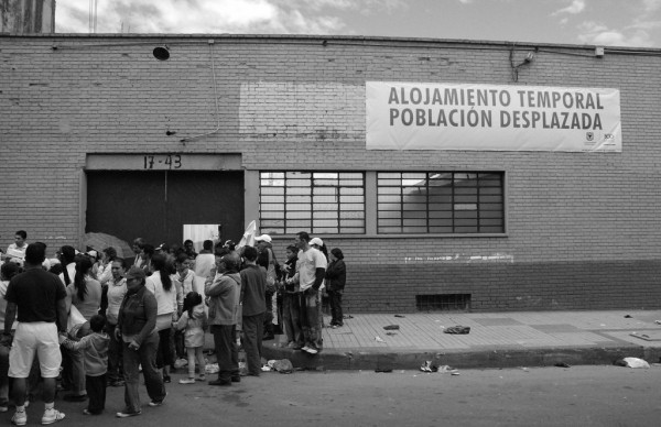 Photo. 3. Refuge for IDPs offered by the local administration (June, 2009). L. Eslava.