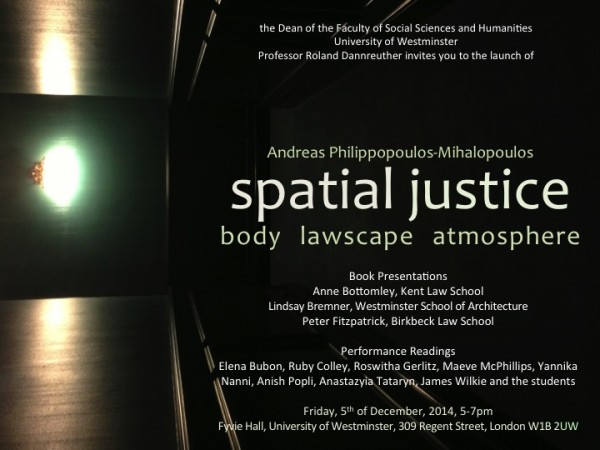 Andreas PM Spatial justice Launch