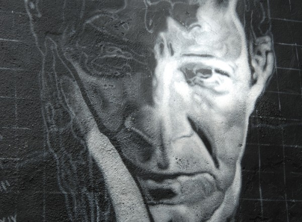 Wall painting of Agamben at the Abode of Chaos, France
